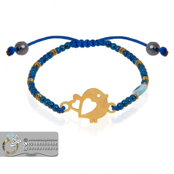 دستبند طلا نوزاد طرح پرنده