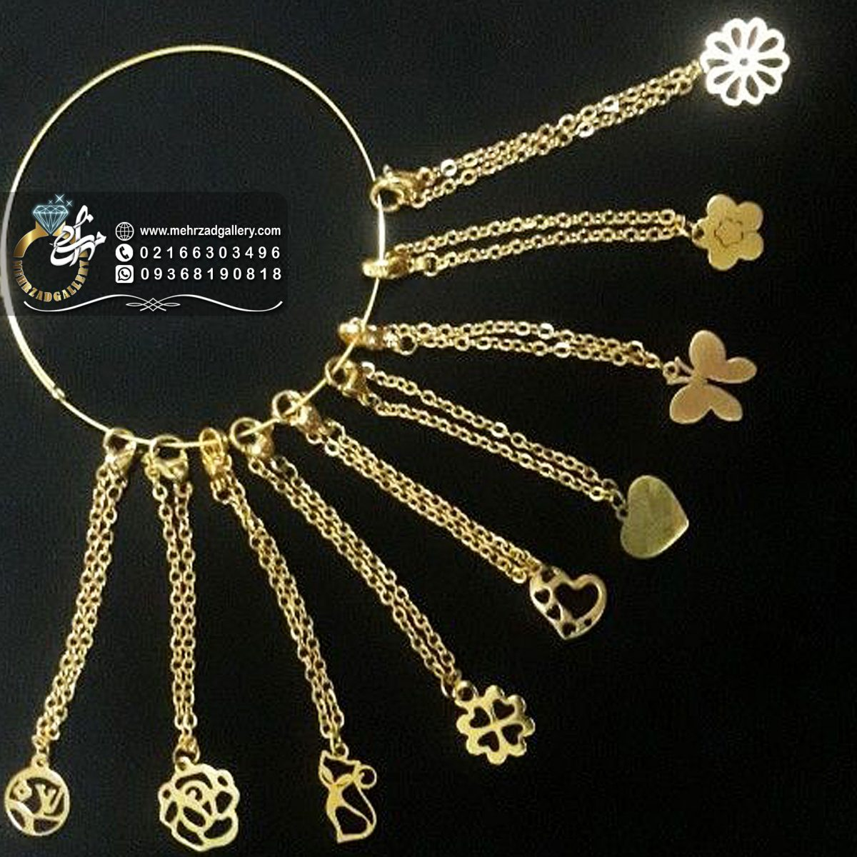 آویز ساعت طلا طرح های مختلف