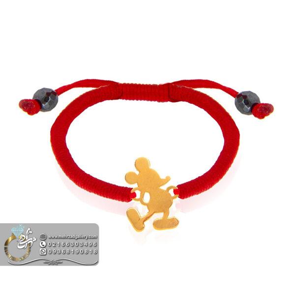 دستبند طلا نوزاد طرح میکی موس