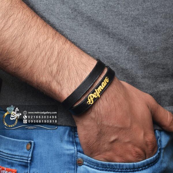 دستبند طلا اسم پژمان انگلیسی pejman
