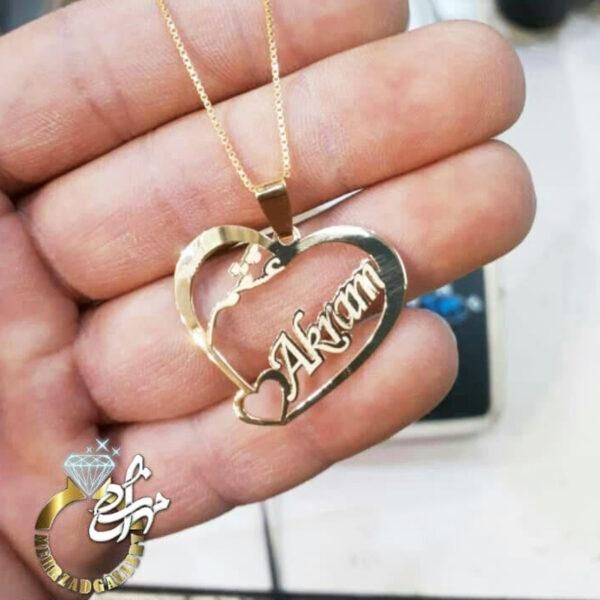 پلاک طلا اسم اکرم Akram