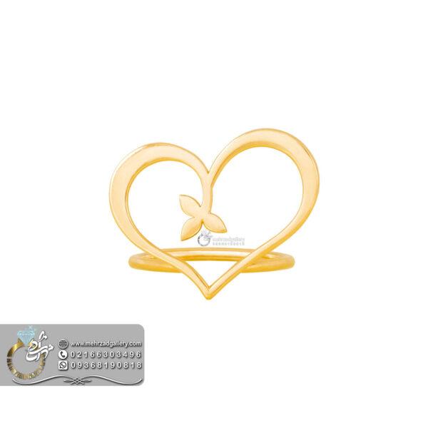 انگشتر طلا ولنتاین طرح قلب