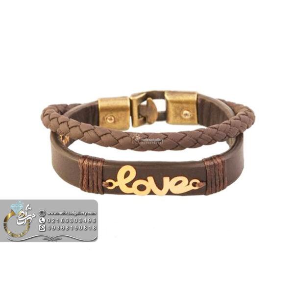 دستبند طلا اسم عشق انگلیسی Love ولنتاین