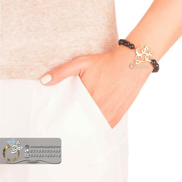 دستبند طلا اسم عشق خاص ولنتاین