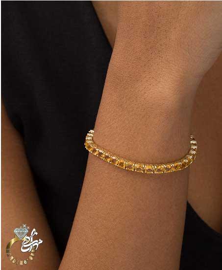 دستبند طلا سیترین