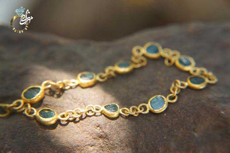 دستبند طلا تورمالین