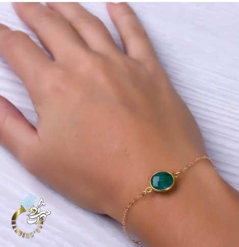 دستبند طلا زمرد